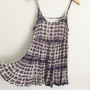 Brandy Melville Tribal Purple Jada low Back Dress